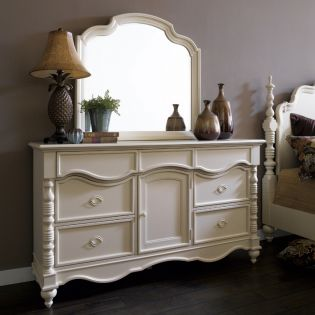 B2158  Drawer Dresser + Mirror