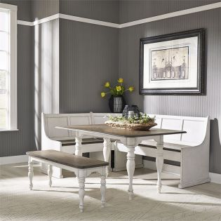244  Nook Dining Set (1 Table + 3 Bench + 1 Corner)