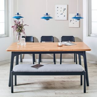 Obey-6  Dining Set  (1 Table + 3 Chair + 1 Bench)