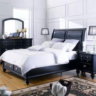 Domain  Queen & K-King Panel Bed  (침대+협틱+화장대)
