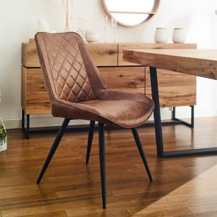 CWC213-Brown  Dianmond Chair