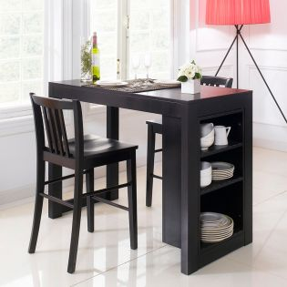 D390-2-Black-IT  Island Table
