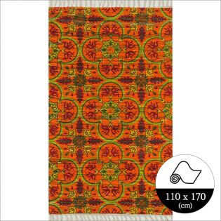 HAR13  Orange Multi (110x170cm)