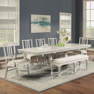 W1070 Harmony  Dinning Set   (1 Table + 2 Arm + 2 Side + 1 Bench)