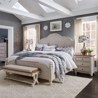 652-BR  Poster Bed  (침대+협탁+화장대)