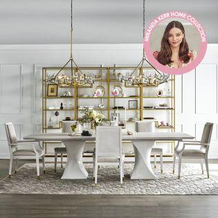 Miranda Kerr 956658  Dining Set  (1 Table +2 Arm+ 4 Side)