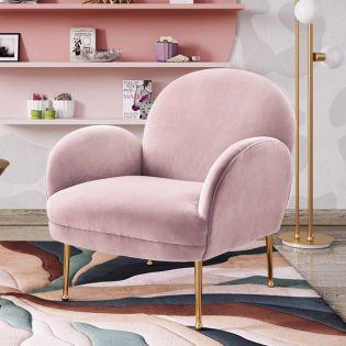 Tov-S6388  Gwen Mauve Velvet Chair