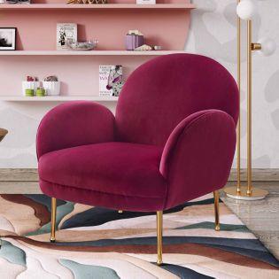 Tov-S6389  Gwen Plum Velvet Chair
